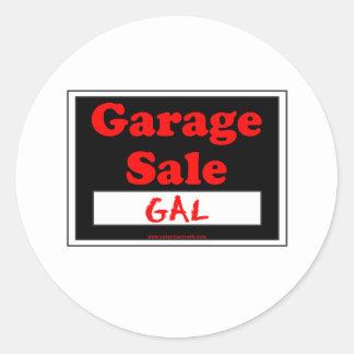 Garage Sale Gal Round Sticker