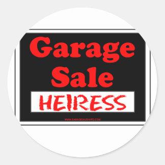Garage Sale Heiress Round Sticker