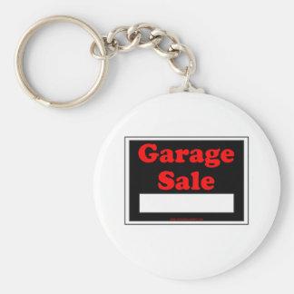 Garage Sale Basic Round Button Key Ring