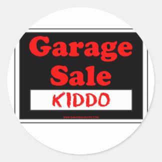 Garage Sale Kiddo Round Stickers