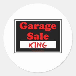 Garage Sale King Round Sticker