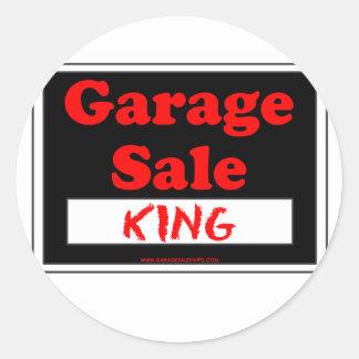 Garage Sale King Classic Round Sticker