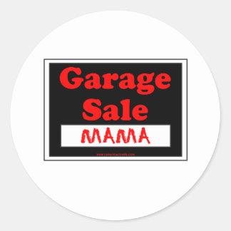 Garage Sale Mama Round Sticker