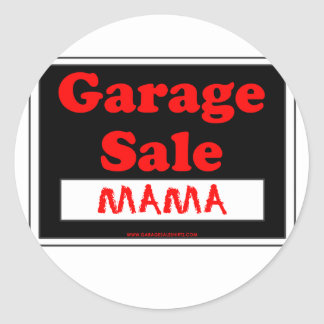 Garage Sale Mama Classic Round Sticker