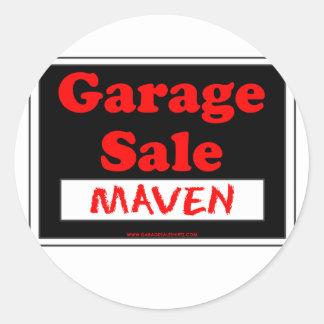 Garage Sale Maven Round Sticker