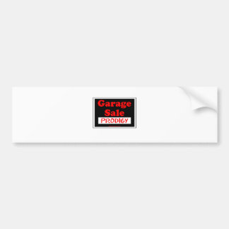 Garage Sale Prodigy Bumper Sticker