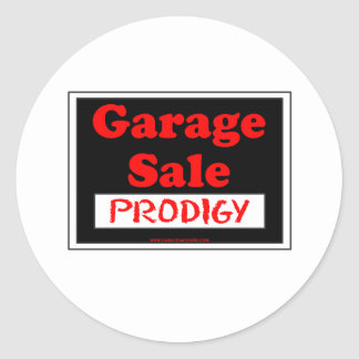 Garage Sale Prodigy Round Sticker