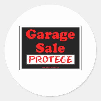 Garage Sale Protege Round Sticker