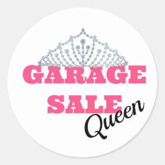 Garage Sale Queen Line Round Sticker