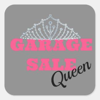 Garage Sale Queen Line Square Sticker