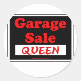 Garage Sale Queen Round Sticker
