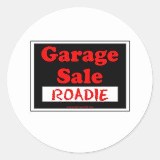 Garage Sale Roadie Round Sticker