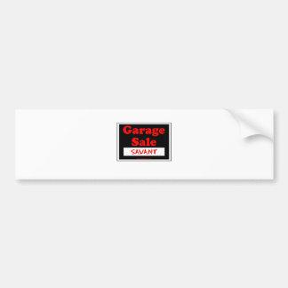 Garage Sale Savant Bumper Sticker