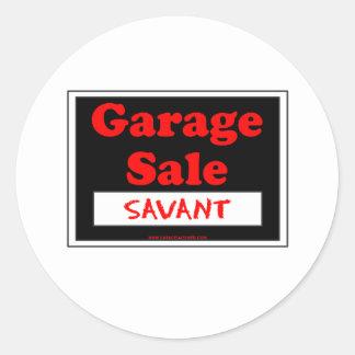Garage Sale Savant Round Sticker