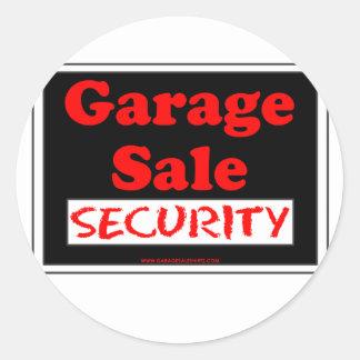 Garage Sale Security Round Sticker