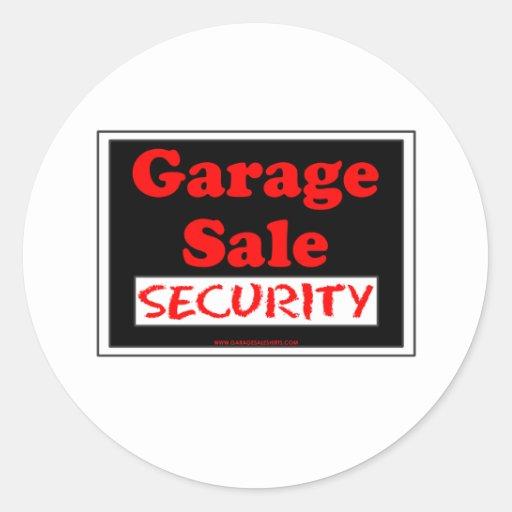 Garage Sale Security Round Stickers
