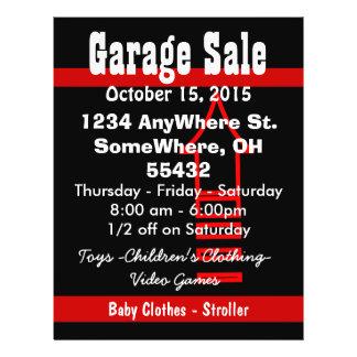 Garage Sale Sign Flyer