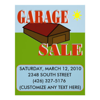 GARAGE SALE SIGN/FLYER FLYER