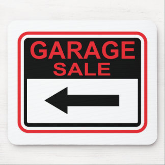 Garage Sale sign this way arrow Vector Mouse Pad