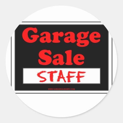 Garage Sale Staff Round Sticker