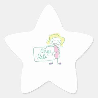 Garage Sale Star Sticker