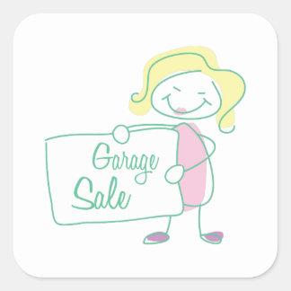Garage Sale Square Stickers