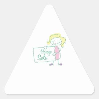 Garage Sale Triangle Sticker