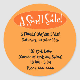 Garage Sale Stickers ~ A Swell Sale!