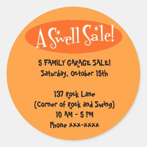 Garage Sale Stickers ~ A Swell Sale!
