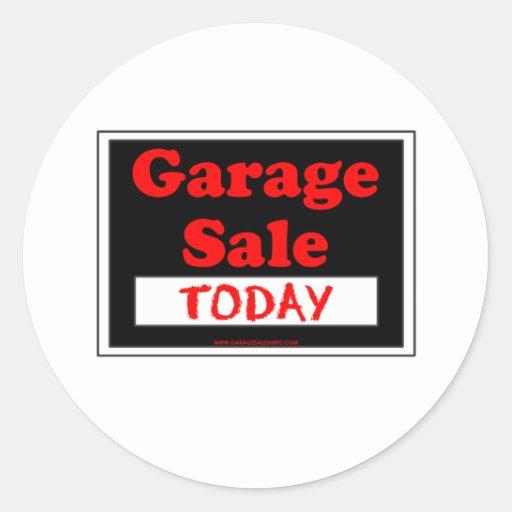 Garage Sale Today Round Stickers