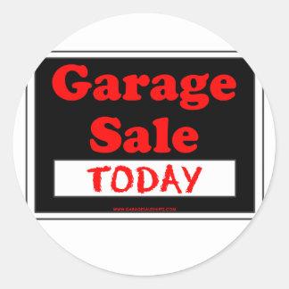 Garage Sale Today Round Sticker