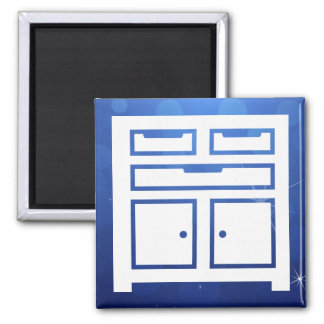 Garage Toolboxes Icon Square Magnet