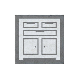 Garage Toolboxes Icon Stone Magnet