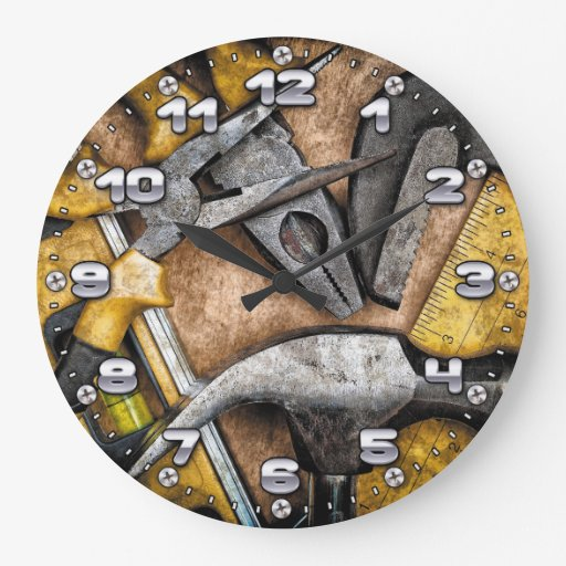 Man Cave Gifts Nz : Garage tools man cave wall clock zazzle