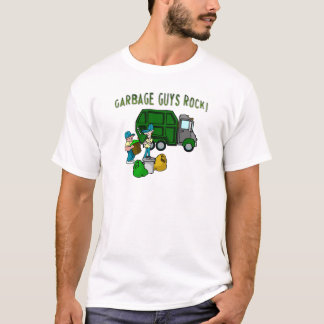 garbage guys rock with men garbage truck t-shirt