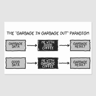 Garbage In Garbage Out (GIGO) - Scientists Sticker