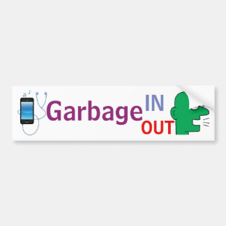 """Garbage IN - Garbage Out"" sticker"
