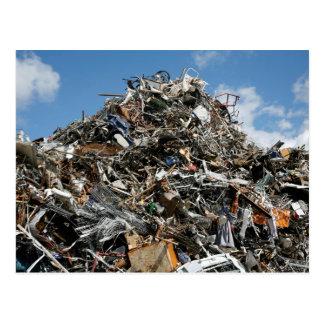 Garbage Pile at the Dump Postcard