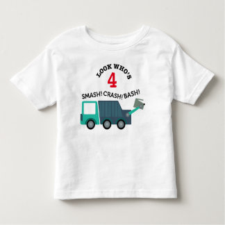 Garbage Truck Birthday Age Shirt