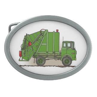Garbage Truck Green Belt Buckles