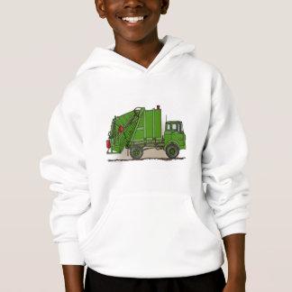 Garbage Truck Green Kids Hoodie