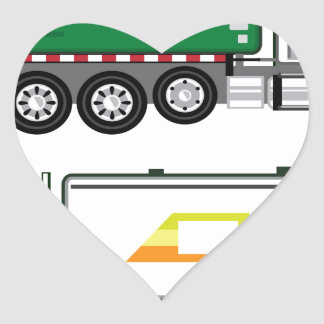 Garbage Truck Heart Sticker