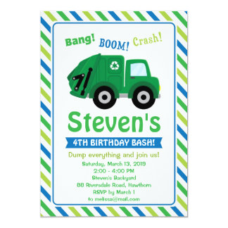 Garbage Truck Invitation / Garbage Truck Invite