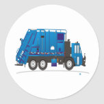 Garbage Truck Round Stickers