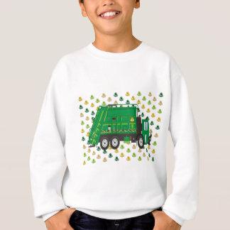 Garbage Truck Shamrocks March Sweatshirt
