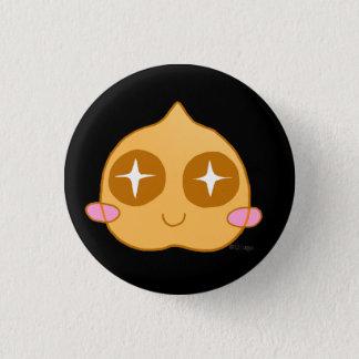 Garbanzo kawaii 3 cm round badge