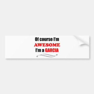 Garcia Awesome Family Bumper Stickers