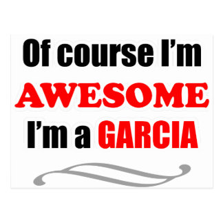 Garcia Awesome Family Postcard