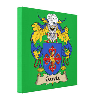 Garcia Coat of Arms Stretched Canvas Print