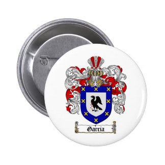 GARCIA FAMILY CREST -  GARCIA COAT OF ARMS PINBACK BUTTONS